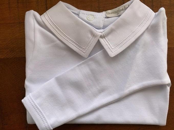 Body bordado duplo branco
