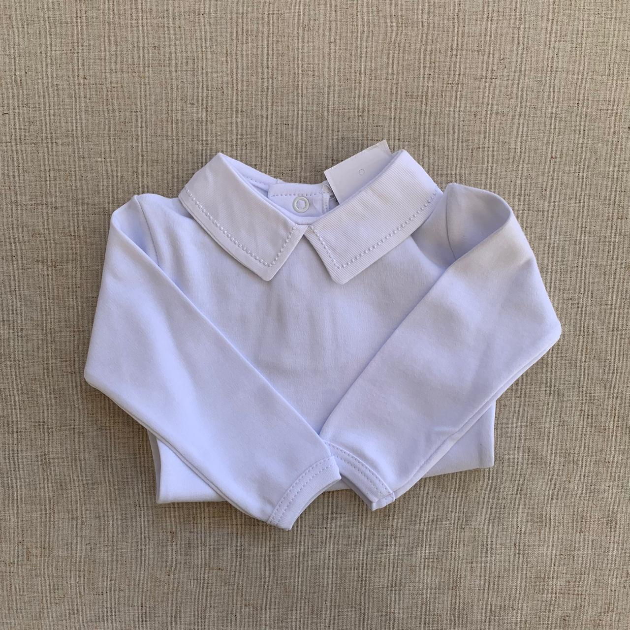 Body golinha branca bordada de branco