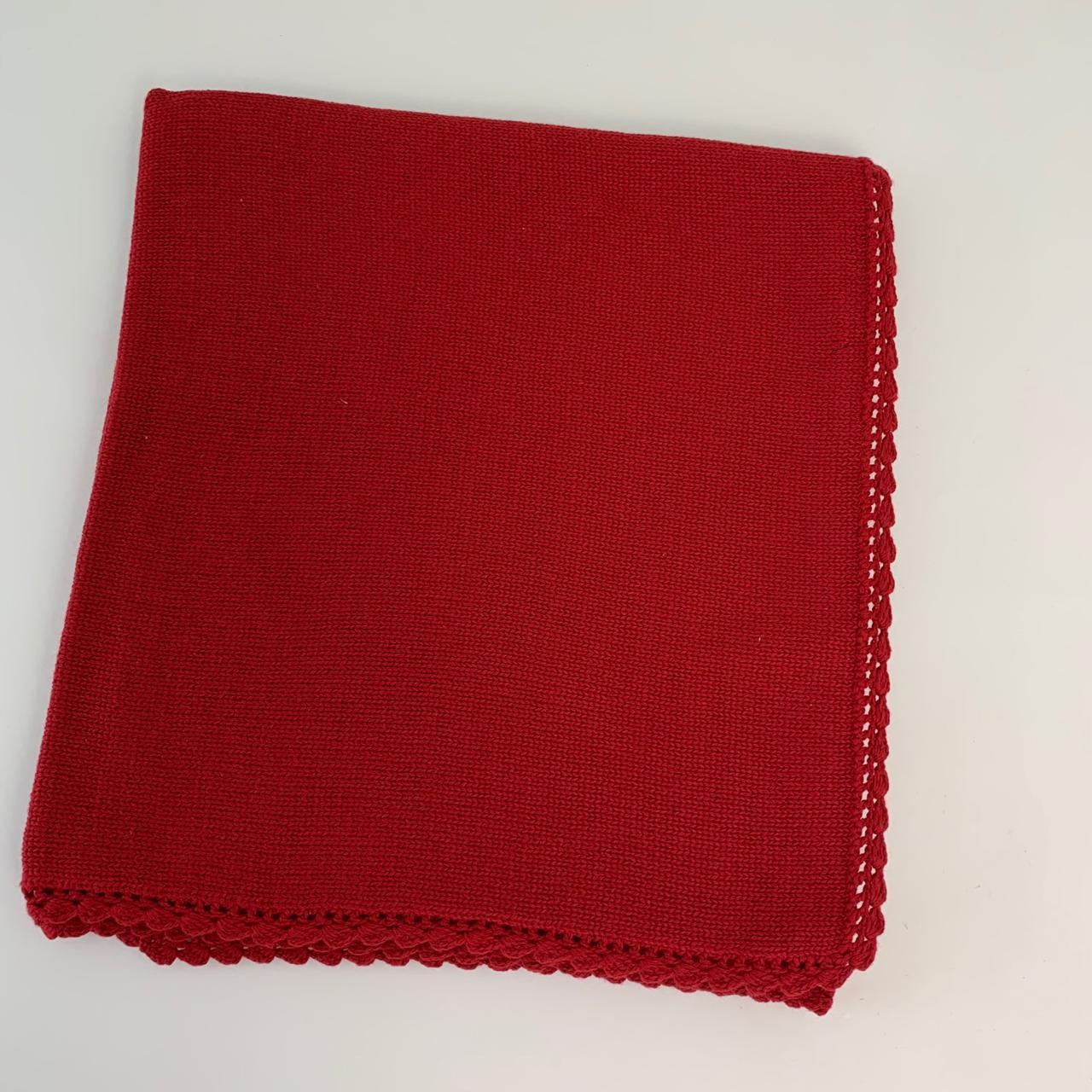 Manta tricot vermelha