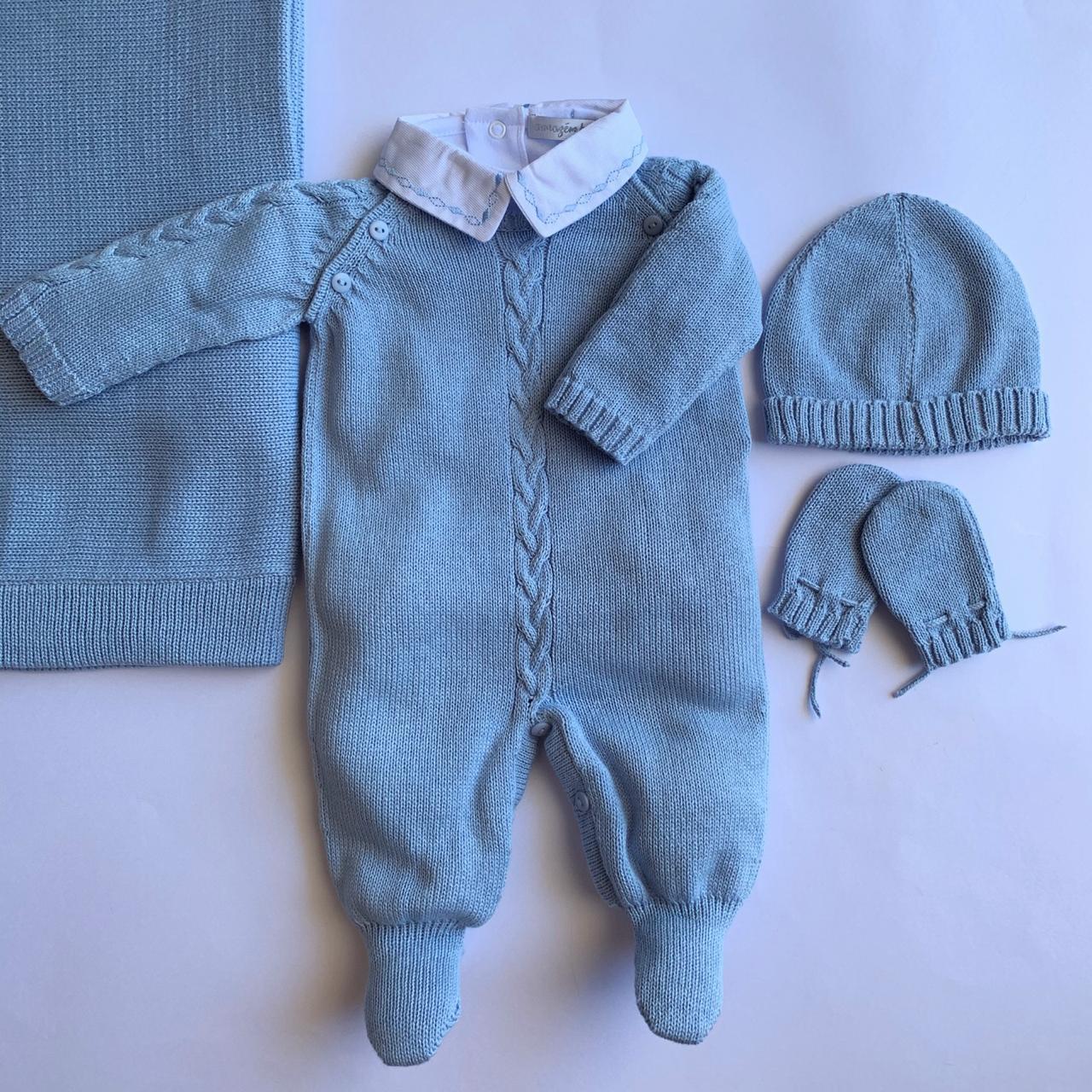 Saída Maternidade  Bernardo azul