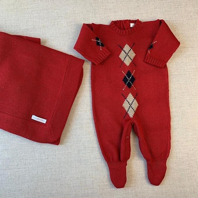 Saída Maternidade Gabriel vermelho cereja