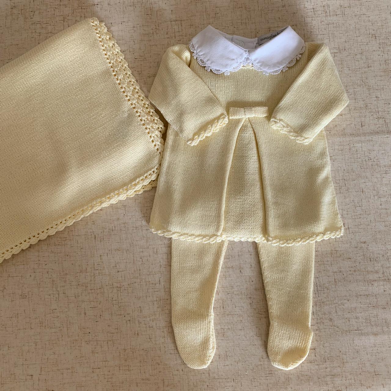 Saída Maternidade  Lia amarela