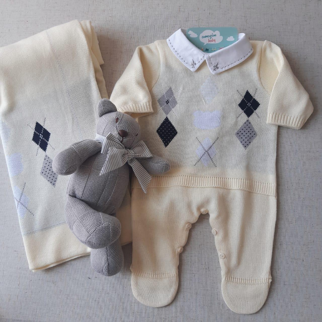 Sáida maternidade Losangos Amarela