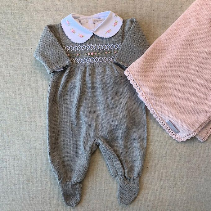 Saída Maternidade  Luisa (rosa e cinza)