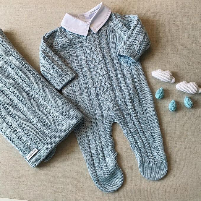 Saída Maternidade Nicolas Azul Claro