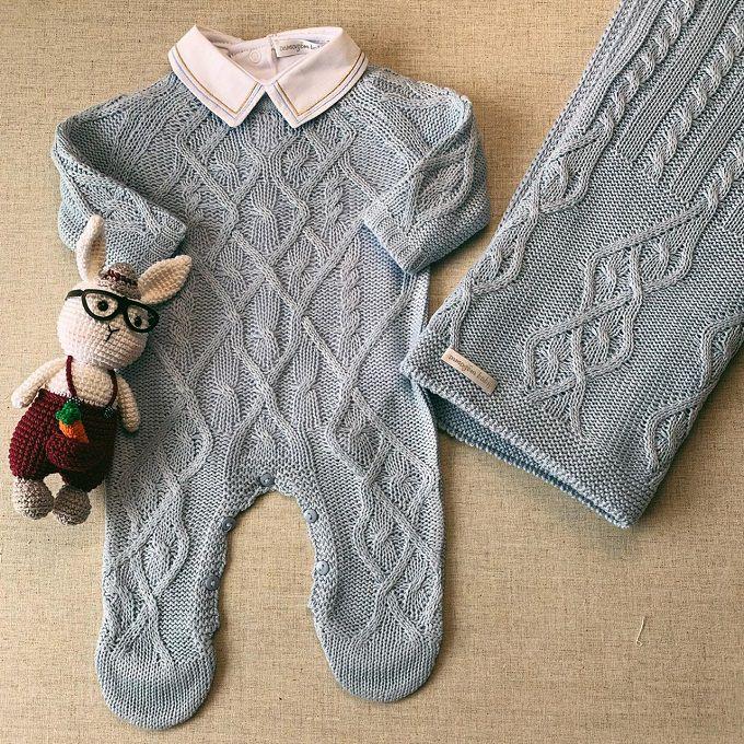 Saída Maternidade Theodoro azul bebê