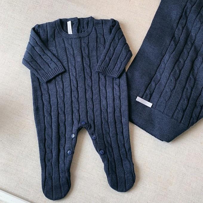 Saída Maternidade Tiago Jeans Escuro