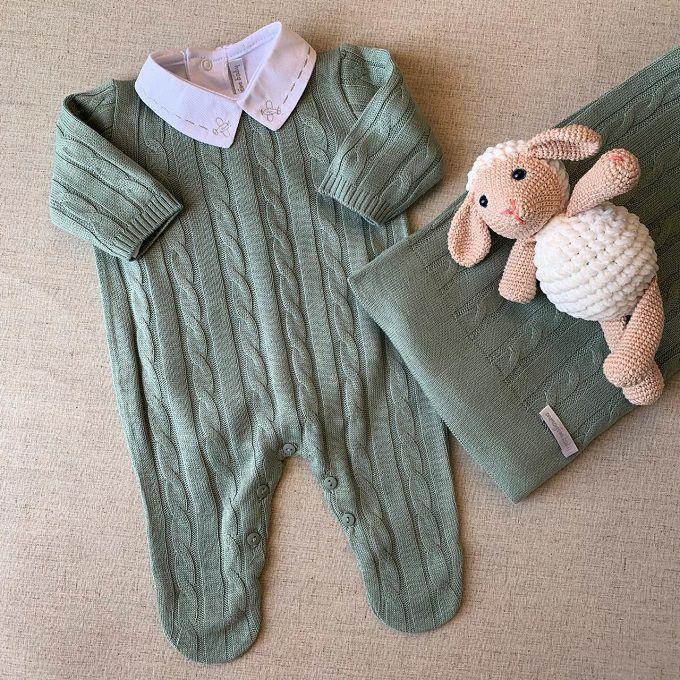 Saída maternidade tranças Verde