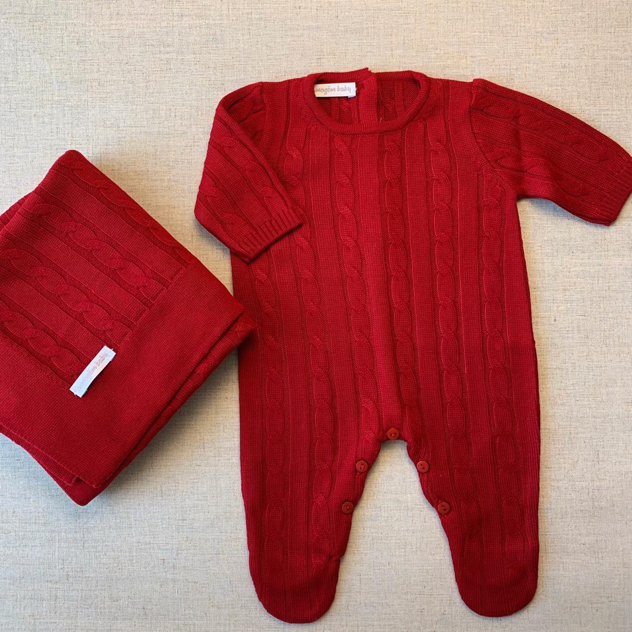 Saída Maternidade tranças vermelho