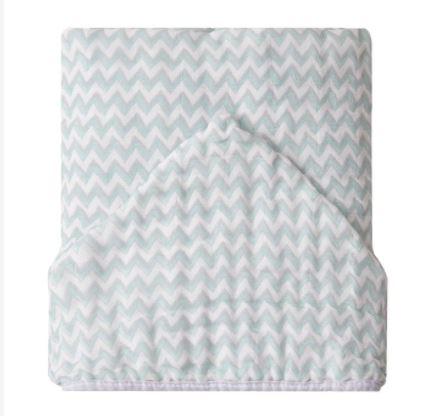Toalhão de banho soft chevron verde