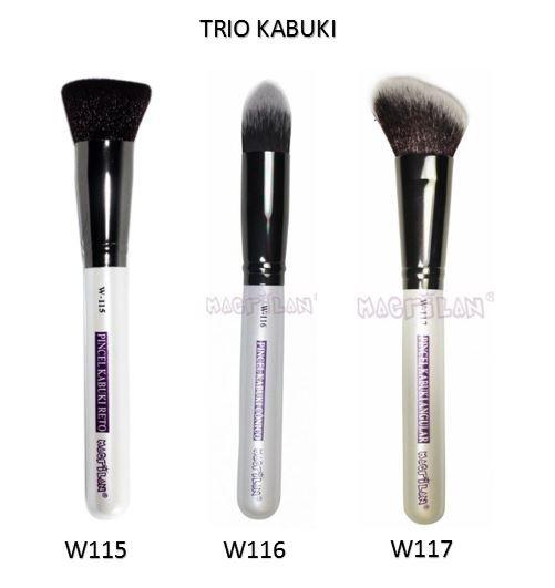 Kit Trio Kabuki Plus - Linha W Macrilan - Aproveite e Economize.