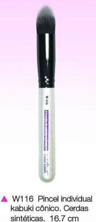 Pincel Macrilan Base W116 Kabuki Cônico - Maquiagem Profissional Macrilan