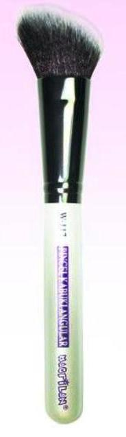 Pincel Macrilan Blush W117  Kabuki Angular - Maquiagem Profissional Macrilan