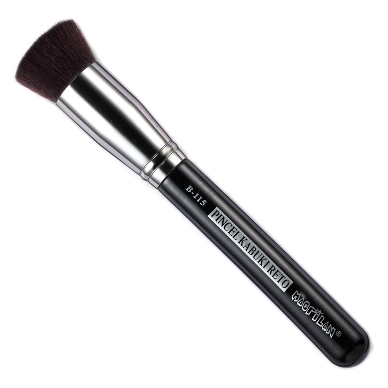 Pincel Macrilan para Base B115 Kabuki Reto - Maquiagem Profissional