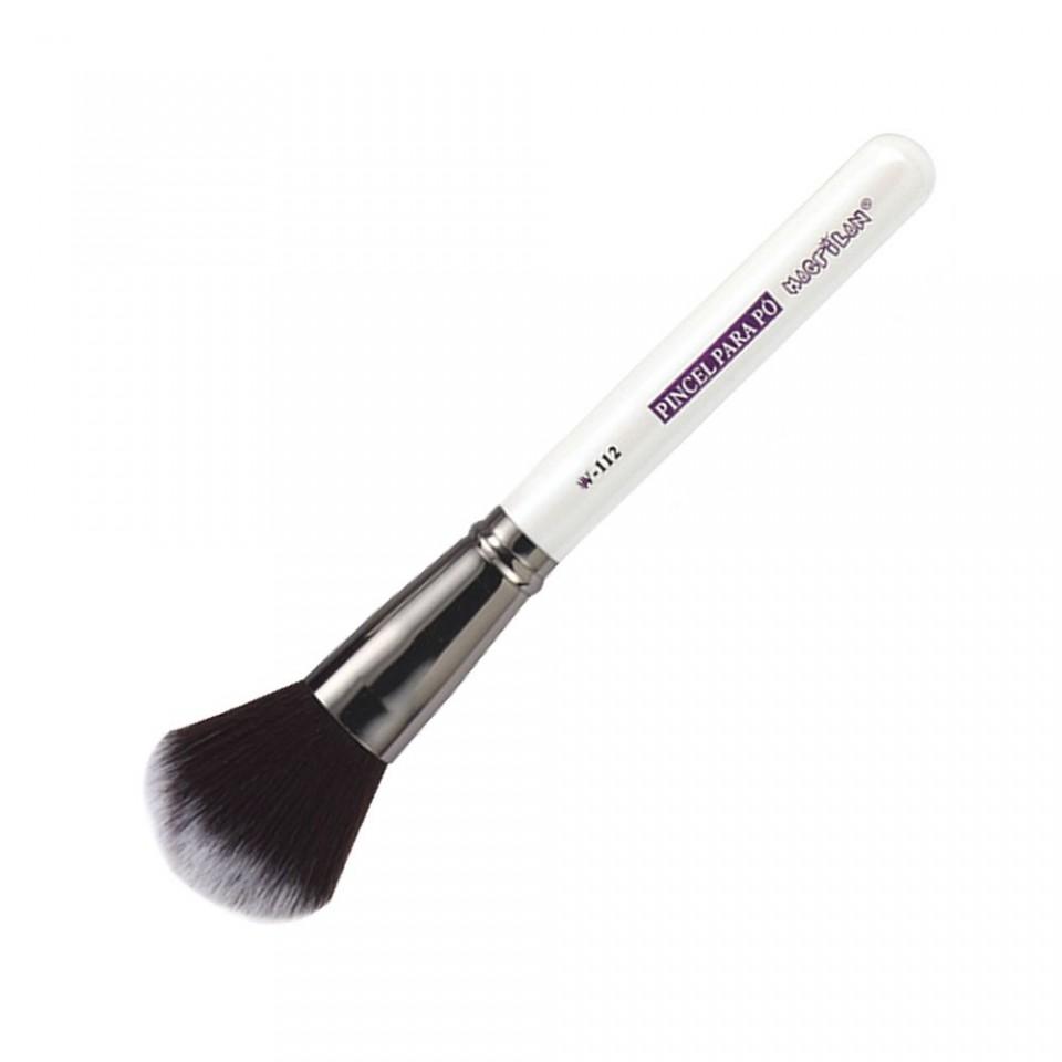 Pincel Macrilan para Pó W112 - Maquiagem Profissional Macrilan W112