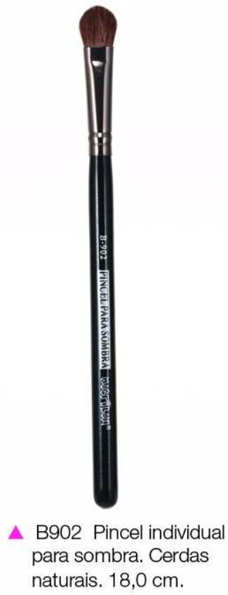 Pincel Macrilan para Sombra B902 - Maquiagem Profissional com Cerdas Naturais