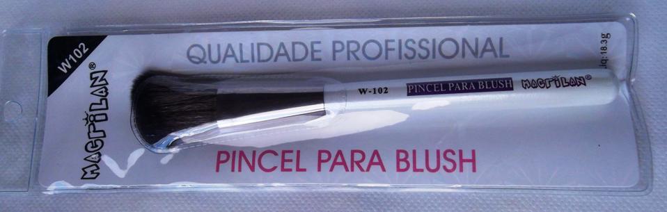Pincel Macrilan W102 para Blush - Macrilan Qualidade Profissional
