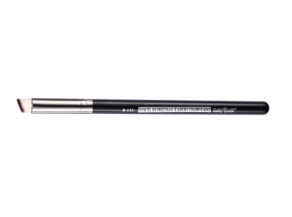 Pincel Profissional Macrilan de Precisão Kabuki Chanfrado B123 - Maquiagem Profissional