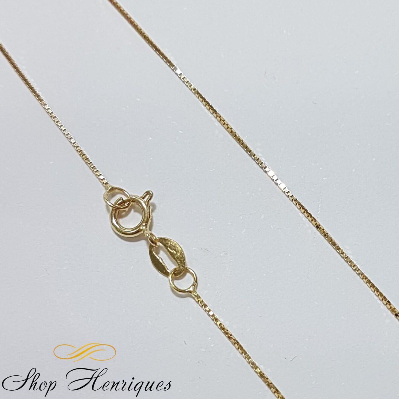 Corrente em Ouro Amarelo 18k Veneziana 45cm - Shop Henriques 6088af491e