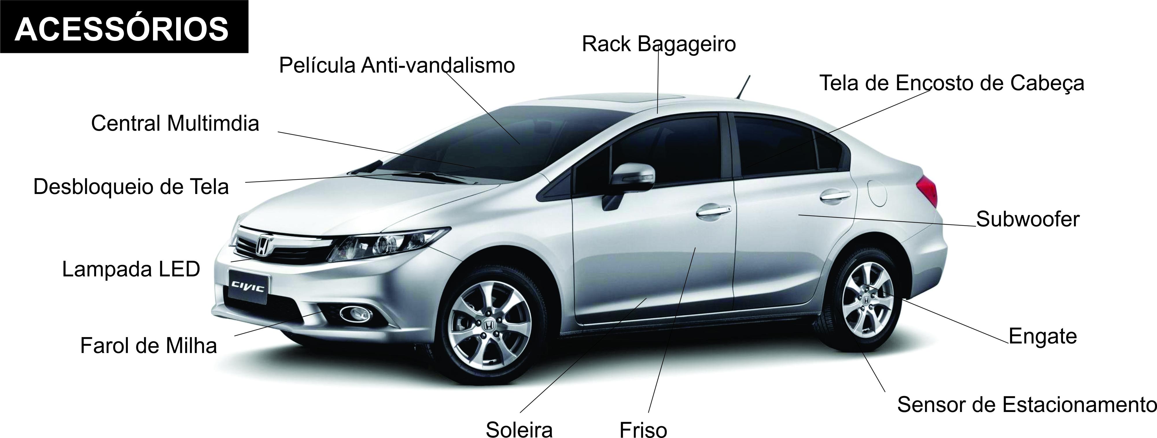 Acessorios Original Honda Civic