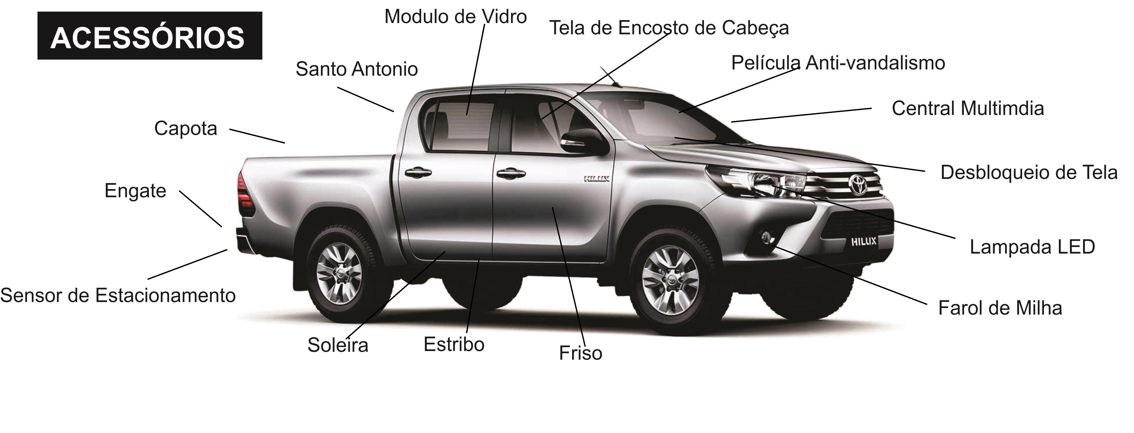 Acessorios Original Toyota Hilux 2017 2018