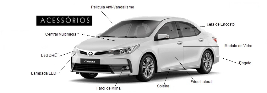 Acessorios Original Corolla Toyota