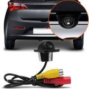 Câmera Ré Colorida Tartaruga Universal  Entrada RCA - Compatível Com Monitores LCD e DVD´s - Blindada