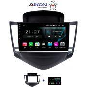 Central Multimídia Chevrolet Cruze LT -2012 á 2017 - Aikon Atom Tela 9 Polegadas - TV Digital FULL HD - GPS Bluetooth MP3 USB - 2 Câmera de Ré + Frontal - Sistema Android 8.1