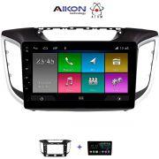 Central Multimidia Hyundai Creta Aikon Atom - Tela 10 Polegadas - TV Digital - GPS Bluetooth MP3 USB - Câmera de Ré - Sistema Android 10.0