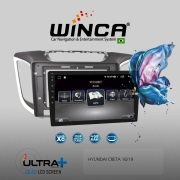 Central Multimidia Hyundai Creta  Winca ULTRA+ tela 10 polegadas QLED LCD SCREEN Processados Octacore 32Bg CarPlay, 2 Cameras Ré e Frontal, Waze, Youtube - Android 10.0