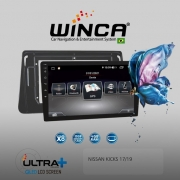 Central Multimidia Nissan Kicks Winca ULTRA+ Tela 10 polegadas QLED LCD SCREEN Processados Octacore 32Bg CarPlay, 2 Cameras Ré e Frontal, Waze, Youtube - Android 10.0