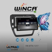 Central Multimidia VW Jetta Winca ULTRA+ tela 10 polegadas QLED LCD SCREEN Processados Octacore 32Bg CarPlay, 2 Cameras Ré e Frontal, Waze, Youtube - Android 10.0