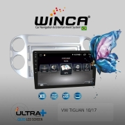Central Multimidia VW Tiguan 10/17 Winca ULTRA+ tela 9 polegadas QLED LCD SCREEN Processados Octacore 32Bg CarPlay, 2 Cameras Ré e Frontal, Waze, Youtube - Android 10.0