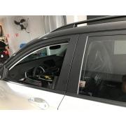 Envelopamento Coluna Esquadro das portas Chevrolet Tracker  - Preto Fosco