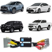 Interface Desbloqueio de Tela Toyota Hilux Corolla / Cross + TV digital Full HD - 2020 2021 2022 - XR XRE XRV XRX Hybrid