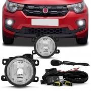 Kit Farol de Milha Neblina Fiat Mobi 2016 á 2020 - Interruptor Alternativo