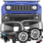 Kit Farol de Milha Neblina Jeep Renegade  2015 á 2018 - Interruptor Alternativo  - PRODUTO INSTALADO