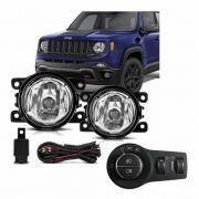 Kit Farol de Milha Neblina Jeep Renegade  2019 2021 - Interruptor Original Bi-partido  - PRODUTO INSTALADO