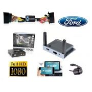 Kit Interface Desbloqueio de Tela Ford Ecosport Ranger Fusion Focus + Receptor Tv Digital + Espelhamento + Camera Ré