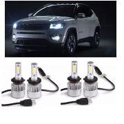 Kit Lampadas Jeep Compass - LED ULtra 4.000 Lumes (cada) - 6000K -  2 kits Luz Diurna + Milha