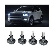 Kit Lampadas Jeep Compass - LED ULtra Shock Light TITANIUM 4.000 Lumes (cada) - 6000K -  2 kits Luz Diurna + Milha