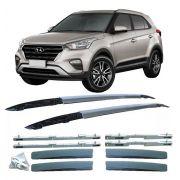 Longarina de Teto Hyundai Creta - Funcional - em Aluminio Preto / Cinza