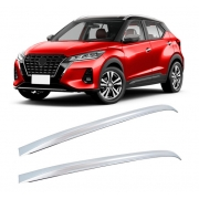 Longarina de Teto Nissan Kicks 2017 a 2022 - Funcional - em Aluminio PRATA