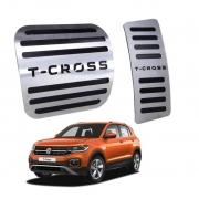 Pedaleira aço inox VW Tcross