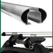Rack De Teto Universal Kiussi Belluno 117CM Com Chave - Preto / Prata