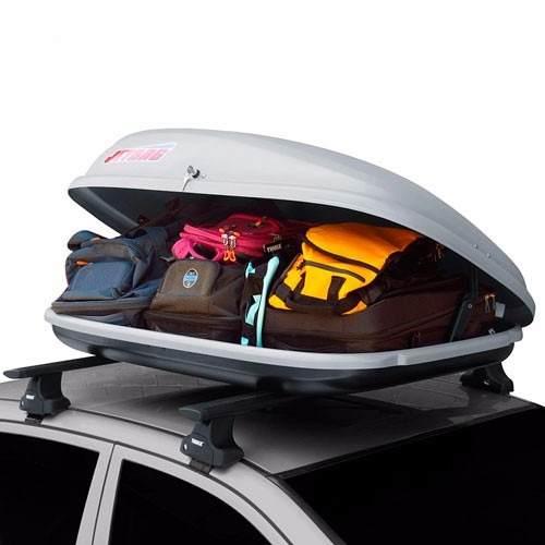 bagageiro maleiro de teto jetbag conquest 370 litros 50kg cinza ou preto eco som. Black Bedroom Furniture Sets. Home Design Ideas