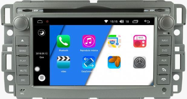 Central Multimídia Chevrolet Captiva 2009 à 2014 Aikon - Android -Com DVD GPS Mapa Bluetooth MP3 USB Ipod SD Card Câmera Ré Grátis