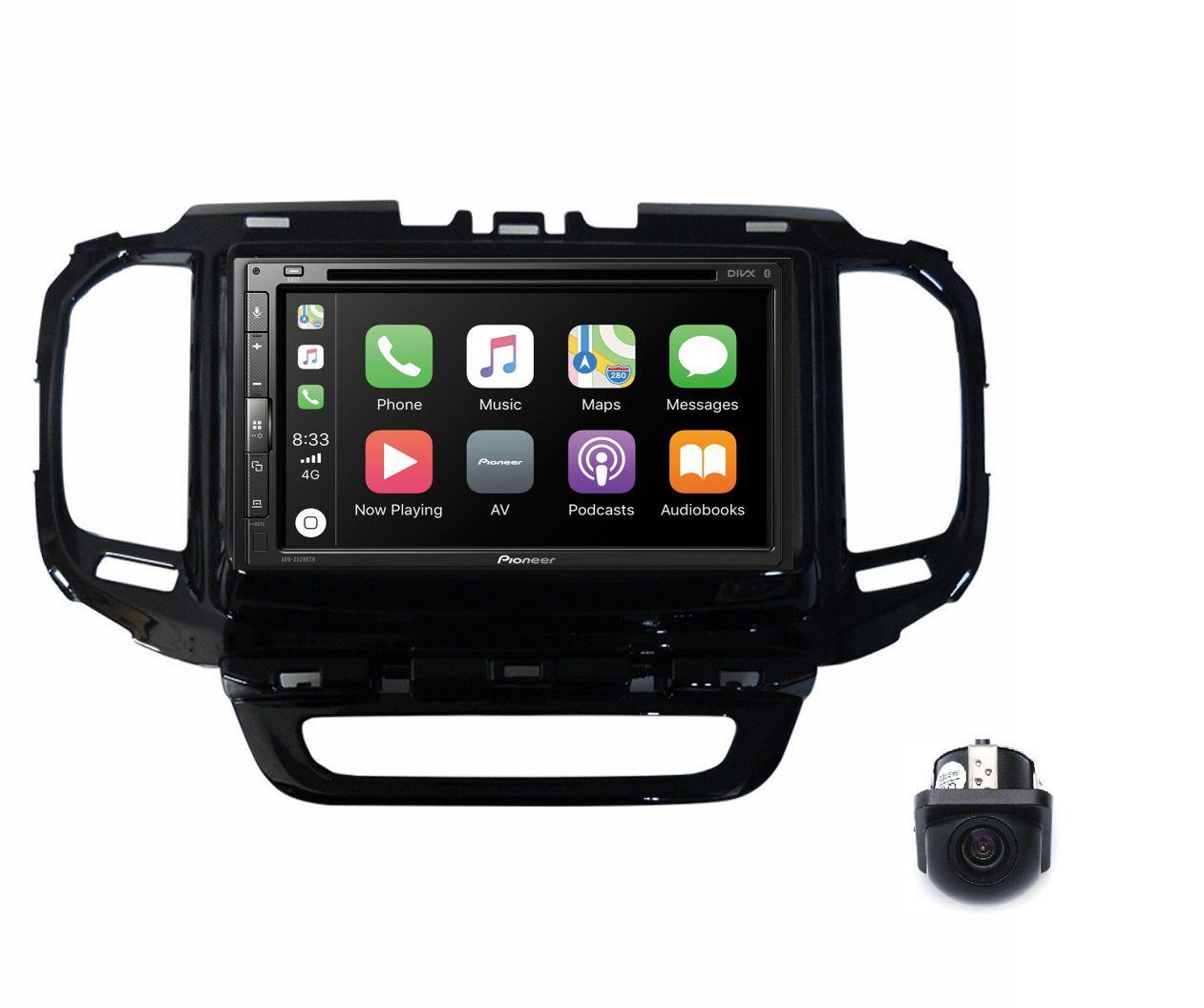 Central Multimidia Fiat Toro - Pioneer AVH-A5280TV + Interface de Volante + Moldura 2 Din -  Com DVD GPS Wase Mapa Bluetooth MP3 USB Ipod SD Card + Câmera de Ré Grátis