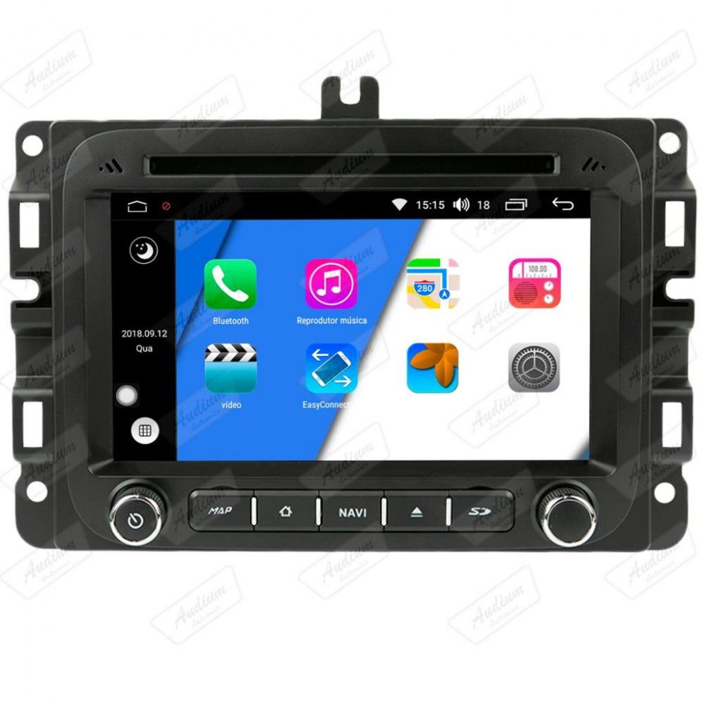 Central Multimidia JEEP Renagde / FIAT Toro  Aikon - X-Droid 7 Polegadas + TV FUll -  Espelhamento DVD GPS Mapa Bluetooth MP3 USB Ipod SD Card Câmera Ré + Frontal Grátis