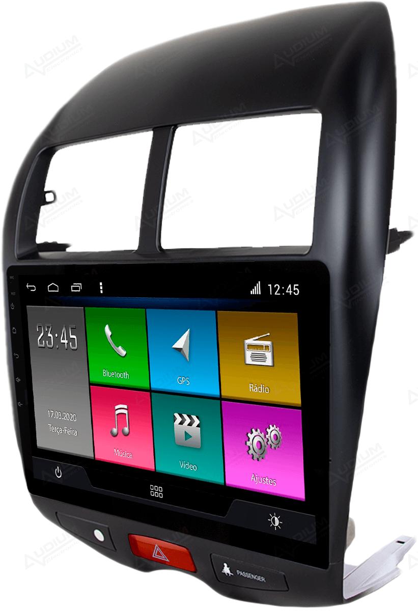Central Multimidia Mistubishi ASX 2010 a 2019 -  Aikon ATOM X10 - Tela 10 pol - Waze Spotify - 2 cameras Ré + Frontal - GPS Integrado -  Bluetooth - 2 entradas USB - Android 10.0